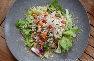Salade du soir {légumes et féculent}