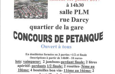 calendrier des manifestations MONTCHANIN-BLANZY canton 71 -JUIN à AOÛT 2017