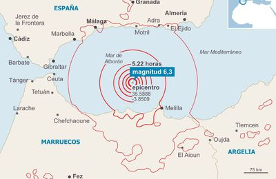 Many earthquakes in the Alboran Sea / Mediterranean sea..