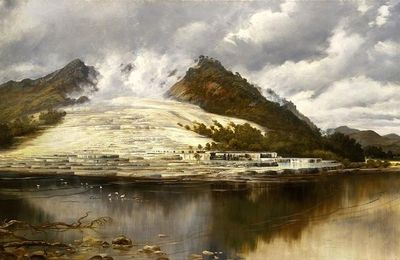 The art on the way of fire: the Pink and White Terraces, by Charles Blomfield.