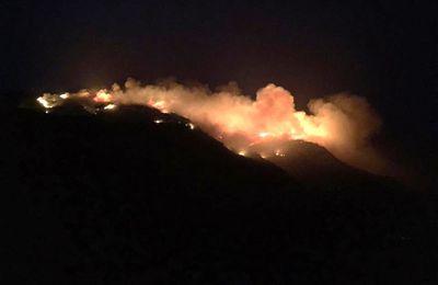 Pantelleria - la Montagna Grande détruite par le feu.