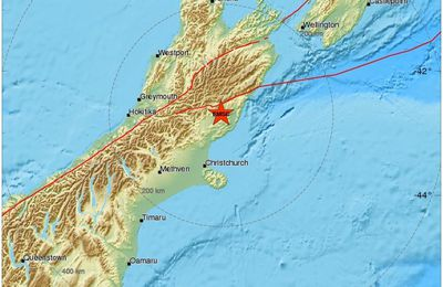 M 7.5 earthquake in Kaikora / New Zealand.