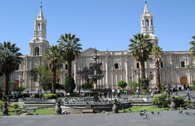 Created by the volcano, Arequipa, the white city.