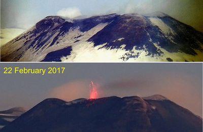 Activité de l'Etna, du Bogoslof et du Sinabung.