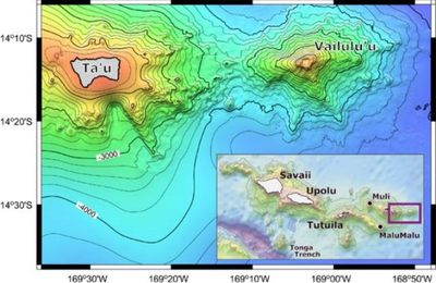 The activity of the Vailulu'u, a Samoan seamount.