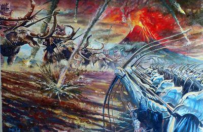 L'art sur les chemins du Feu - Le Mont Doom par Jocelyn Lardy.