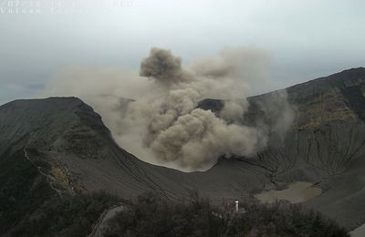 Activity of Turrialba, Poas, Fournaise and Sinabung.