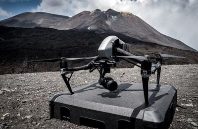 Mount Etna under the supervision of drones.