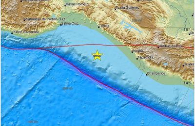 The earthquake of Pijijiapan / Mexico.