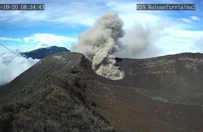 Activity of Turrialba, Agung, Nyiragongo and Niamuragira.