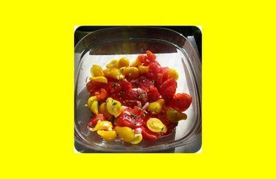 Salade de tomates (surement une dernière avec les tomates du jardin)