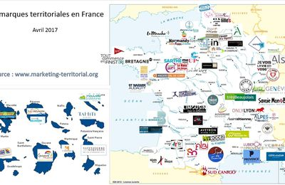 Cartographie des marques territoriales en France en avril 2017