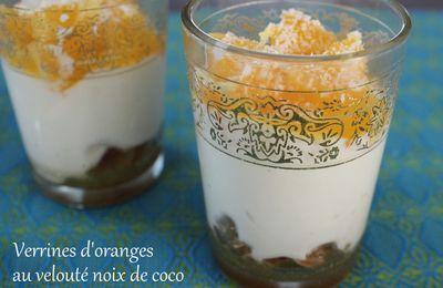 Verrines d'oranges au velouté noix de coco...#Bataille Food 20!