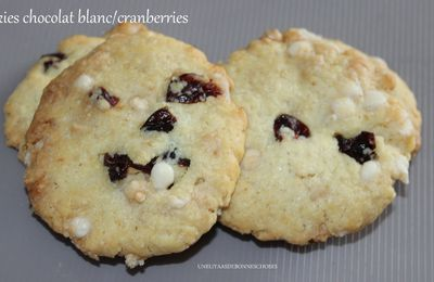 Cookies au chocolat blanc et cranberries...