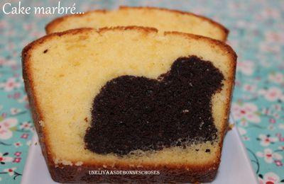 Cake marbré avec une petite surprise à l'intérieur!!