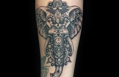 Tatouage Elephant Mandala