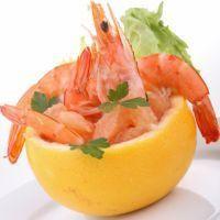 Salade Crevettes et pamplemousse