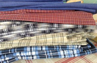 Futur quilt avec des chemises homme