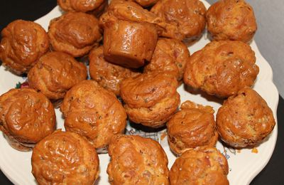 Muffins jambon fromage.