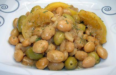 mijoté de cocos de paimpol aux olives et aux citron confits