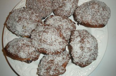 Madeleines nature, nappage Nutella Coco