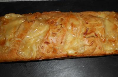 Cake lardons, jambon, maroilles