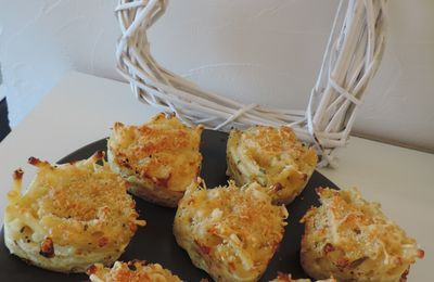 Muffins de macaronis au fromage