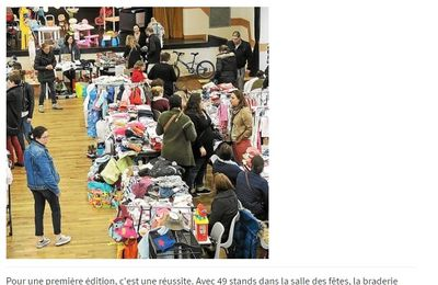 BRADERIE - ARTICLE LE TELEGRAMME