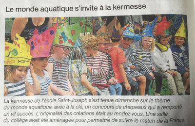 KERMESSE 2016 - ARTICLES PRESSE
