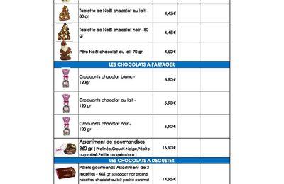 OPÉRATION CHOCOLATS DE NOEL