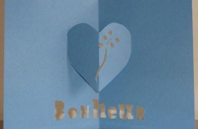 Patron gratuit kirigami muguet coeur Bonheur