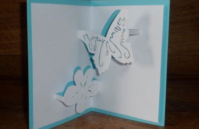 Free pattern butterfly kirigami anniversaire