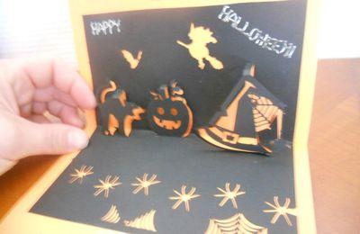 Patron gratuit kirigami halloween