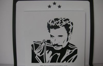 Gabarit gratuit kirigami Johnny Halliday