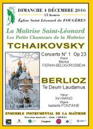 TE DEUM de BERLIOZ pour choeur, solistes, orgue et orchestre à Fougères (35)