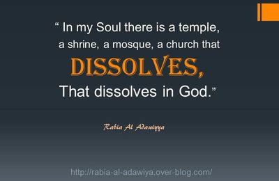 In my Soul there is a temple...