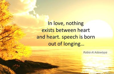 In love, nothing exists between...