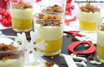 Verrine Crumble au Chocolat Blanc, Mangue & Citron Vert