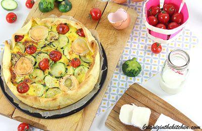 Quiche Courgette, Tomate & Fromage de Chèvre