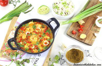 Curry de Crevettes Façon Thai