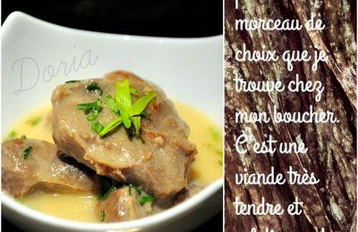 Joues de porc à l'estragon et purée de butternut