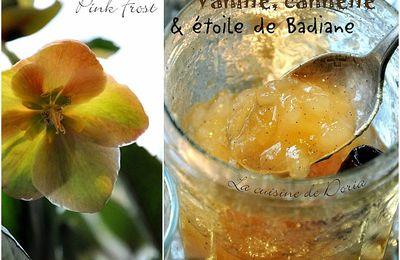 Confiture de poires, vanille, cannelle et étoile de Badiane