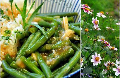 Haricots verts à l'ail, au miso