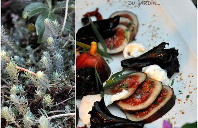 Carpaccio de figues, bourrata et tomates séchées