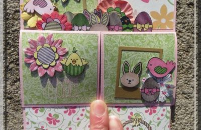 Joyeuses Pâques Fleuries - carte pop up box