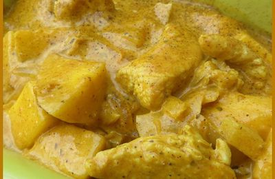 Curry minute de dinde à la mangue (épicé)