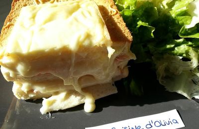 Croque cake raclette