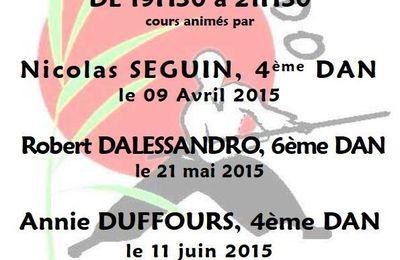 """Cours """"Jeudi de l' Expert"""" Jeudi 11 Juin 2015 à Villefranche sur Saône animé par Annie Duffours 4ème Dan"""