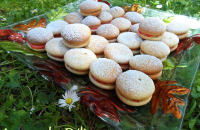 Whoopies vanille-fraise (ou version Marshmallow)