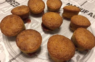 Muffins spéculoos framboise